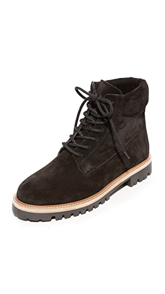Vince Women S Farley Suede Lace Up Combat Boots In Black
