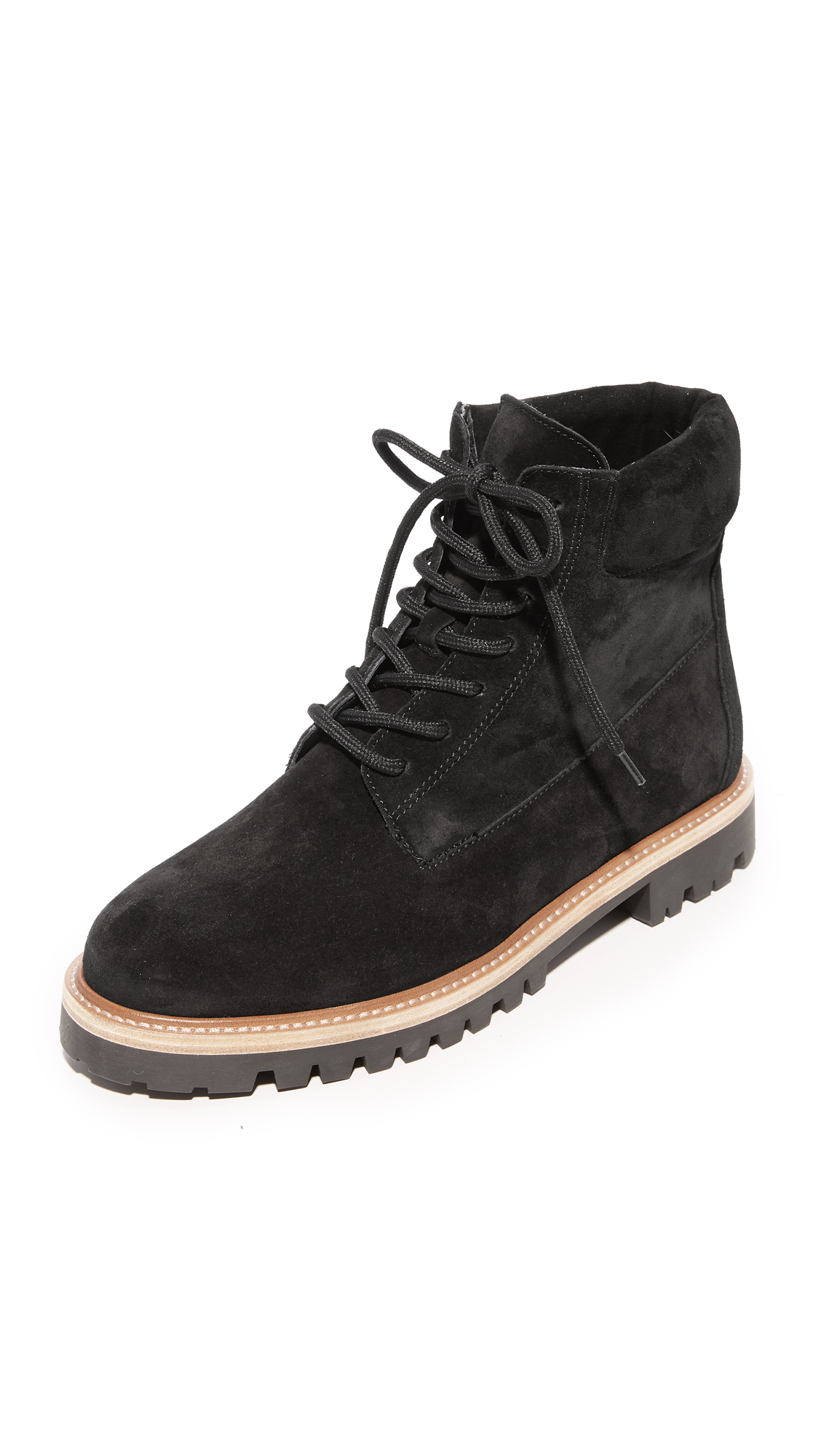 Vince Farley Tread Sole Ankle Boots - Black