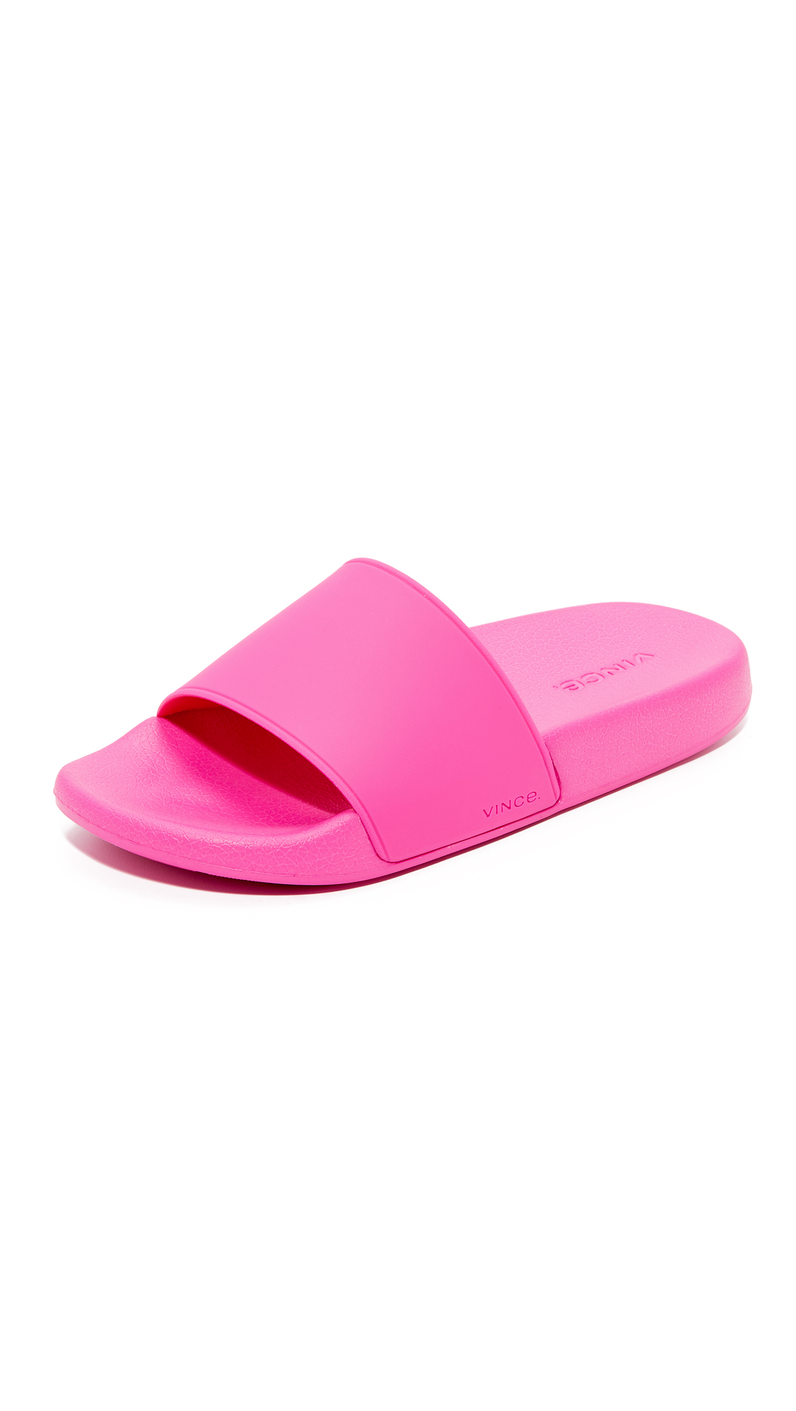 Vince Westcoast Slide Sandals - Magenta