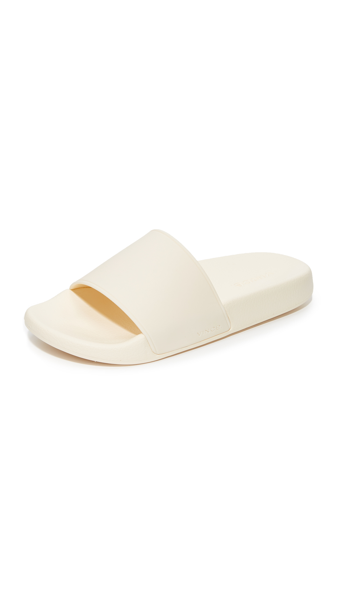 Vince Westcoast Slide Sandals - Cream