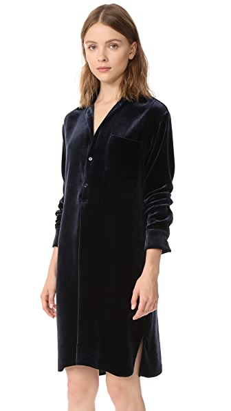 Vince Velvet Shirt Dress at Shopbop