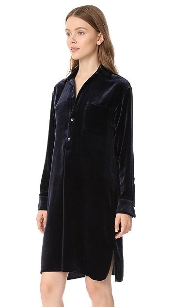 Vince Velvet Shirt Dress