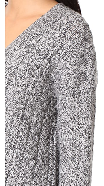Vince Cable V Neck Sweater