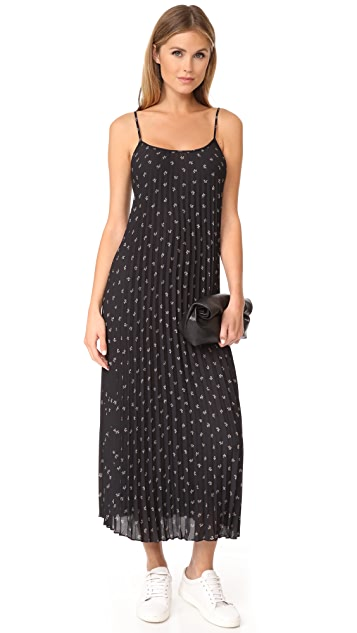 Vince Ditsy Floral Pleated Dress