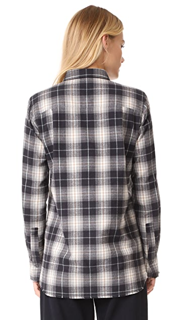 Vince Plaid Fitted Shirt