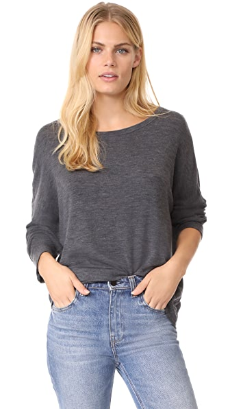 Vince Drop Shoulder Sweater - Medium Heather Grey