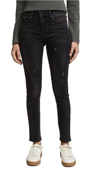 Vince 5 Pocket Skinny Jeans In Vintage Black Wash