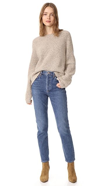 Vince Cropped Saddle Pullover
