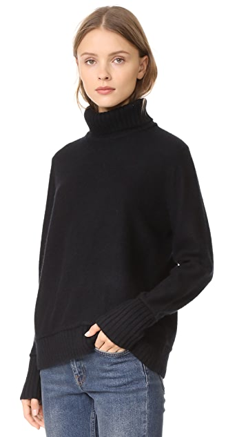 Vince Felted Cashmere Turtleneck Sweater