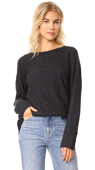 Vince Cashmere Sweater - Heather Carbon