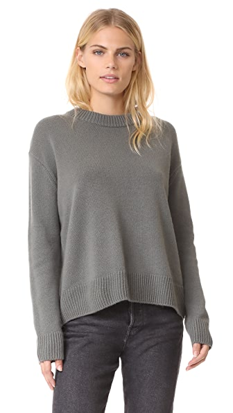 Vince Boxy Cashmere Sweater - Pine
