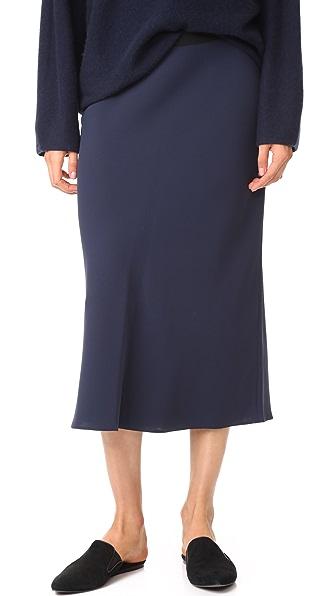 Vince Elastic Slip Skirt - Coastal