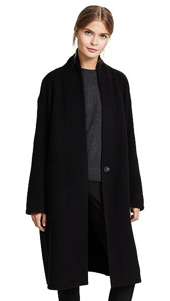 Vince High Collar V Neck Coat at Shopbop