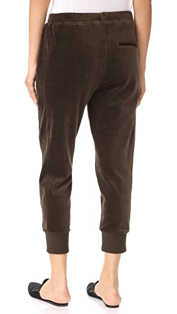 Vince Velour Cuffed Joggers