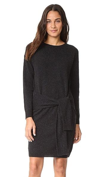Vince Long Sleeve Tie Waist Sweater Dress at Shopbop
