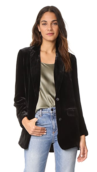 Vince Velvet Boyfriend Blazer at Shopbop