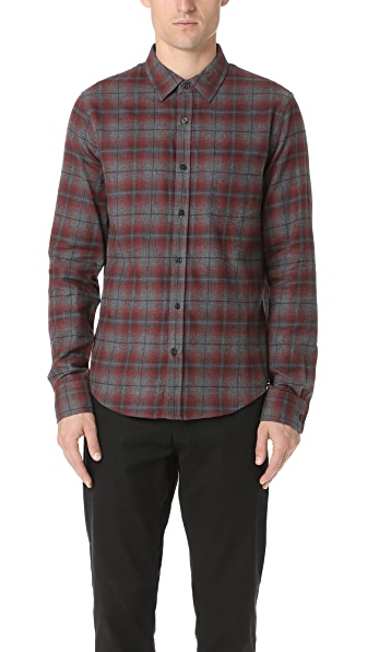 Vince Window Shadow Plaid Shirt