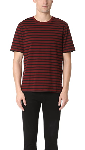 Vince Smooth Jersey Striped Tee
