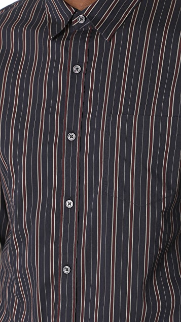 Vince Vintage Stripe Long Sleeve Shirt
