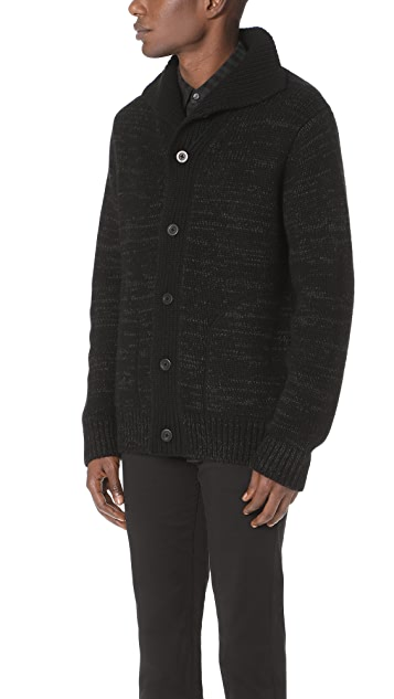 Vince Marled Button Front Cardigan