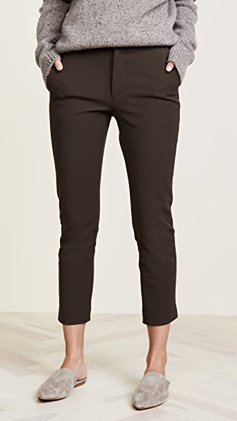Vince Stove Pipe Trousers - Dark Willow