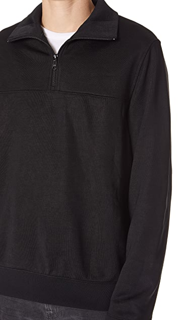 Vince Half Zip Mock Neck Sweater