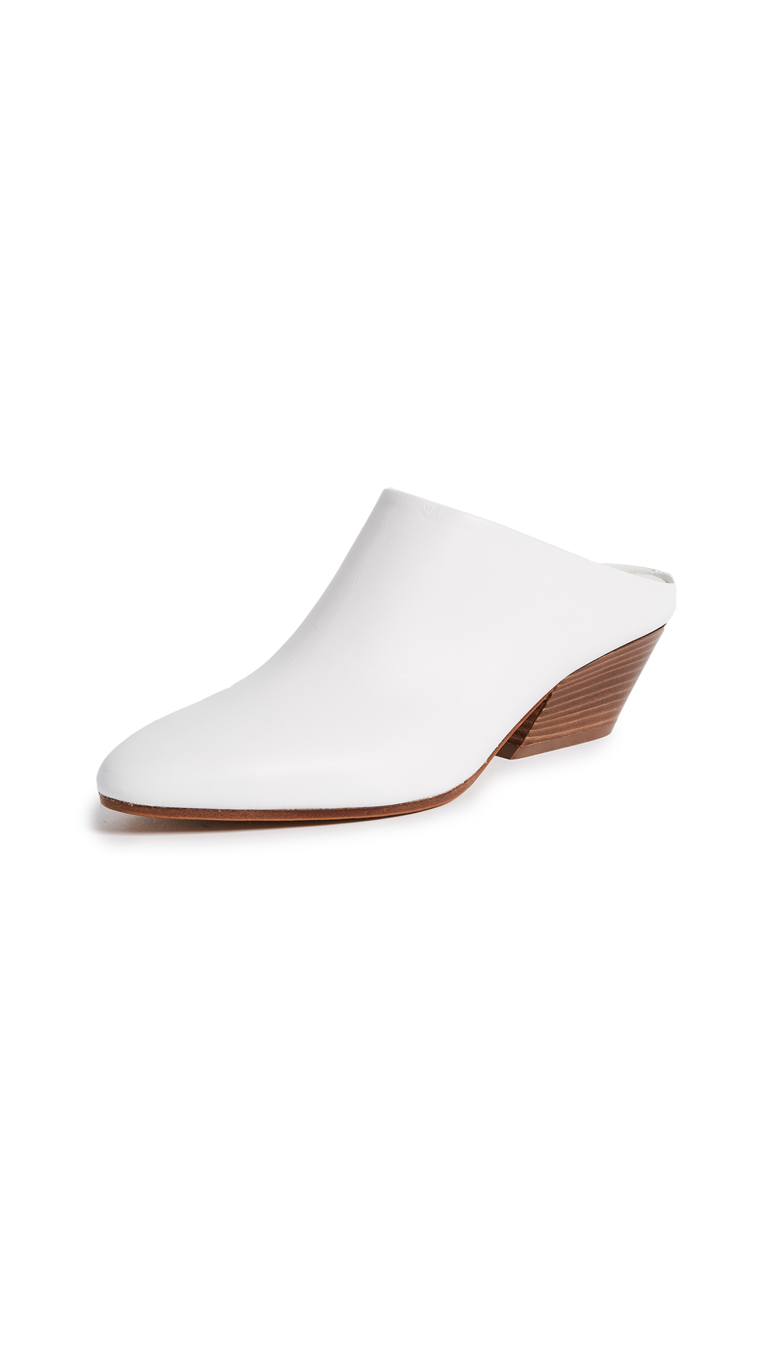 Vince Vigo Mules - Optic White