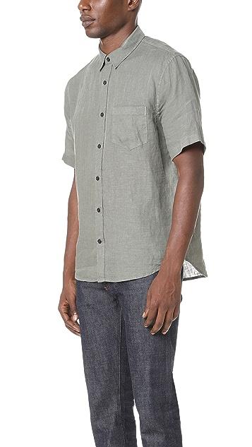 Vince Short Sleeve Linen Shirt