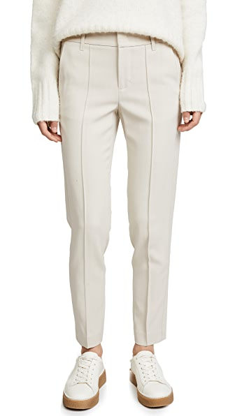 Vince Stitch Front Strapping Pants In Horchata