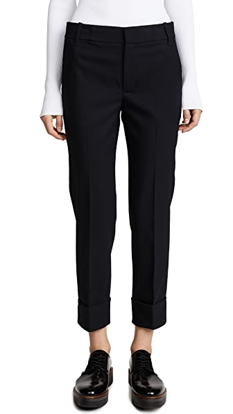 Vince Cuffed Coin Pocket Trousers In Coastal