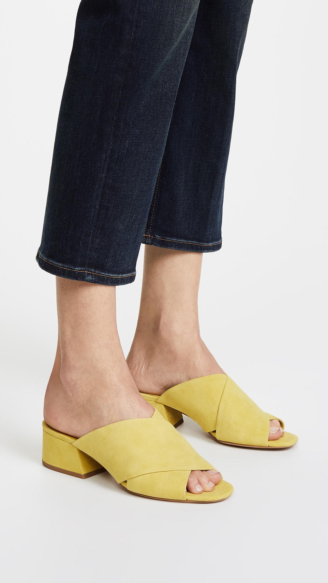 Vince Women's Karsen Suede Block Heel Slide Sandals 5Z5Zz2Z