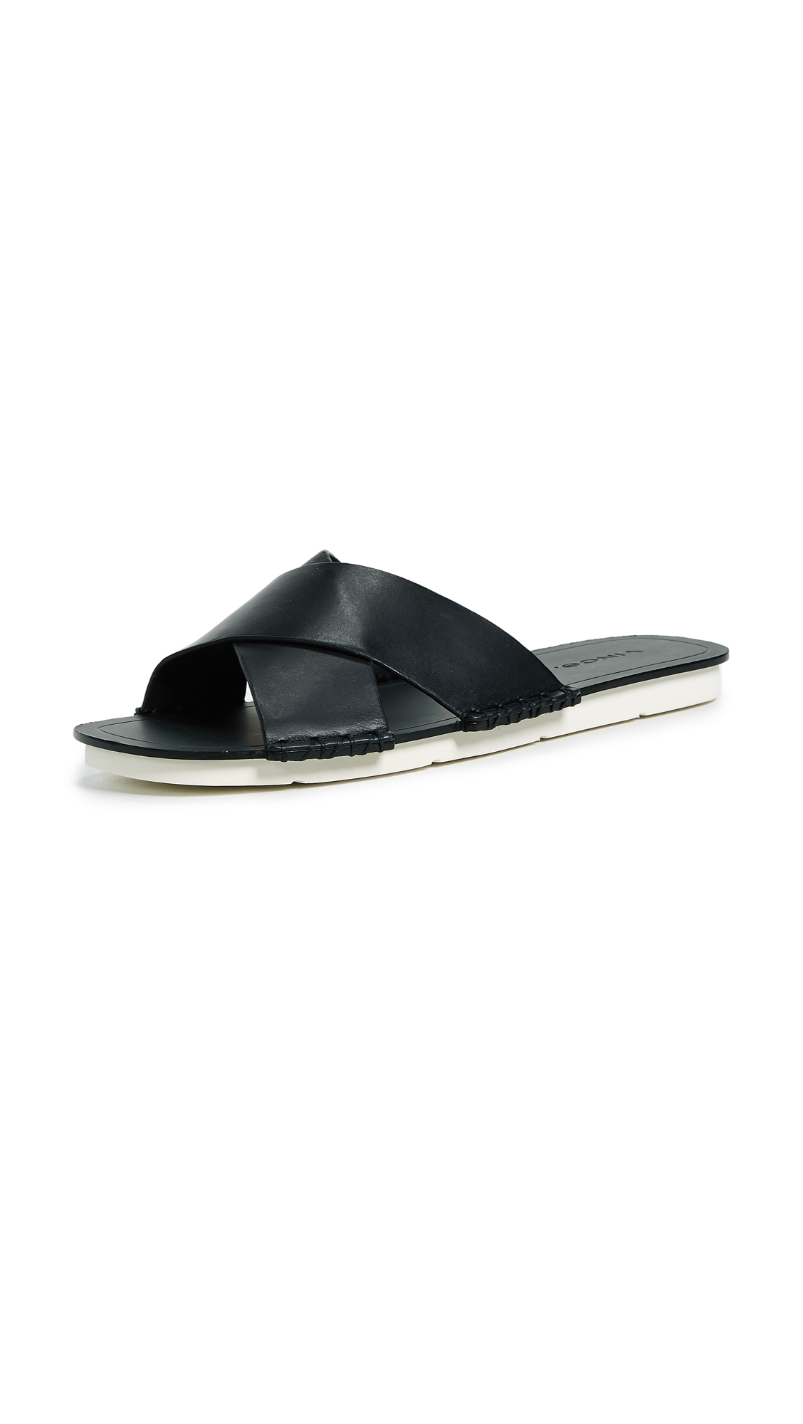 Vince Nico Crisscross Slide In Black
