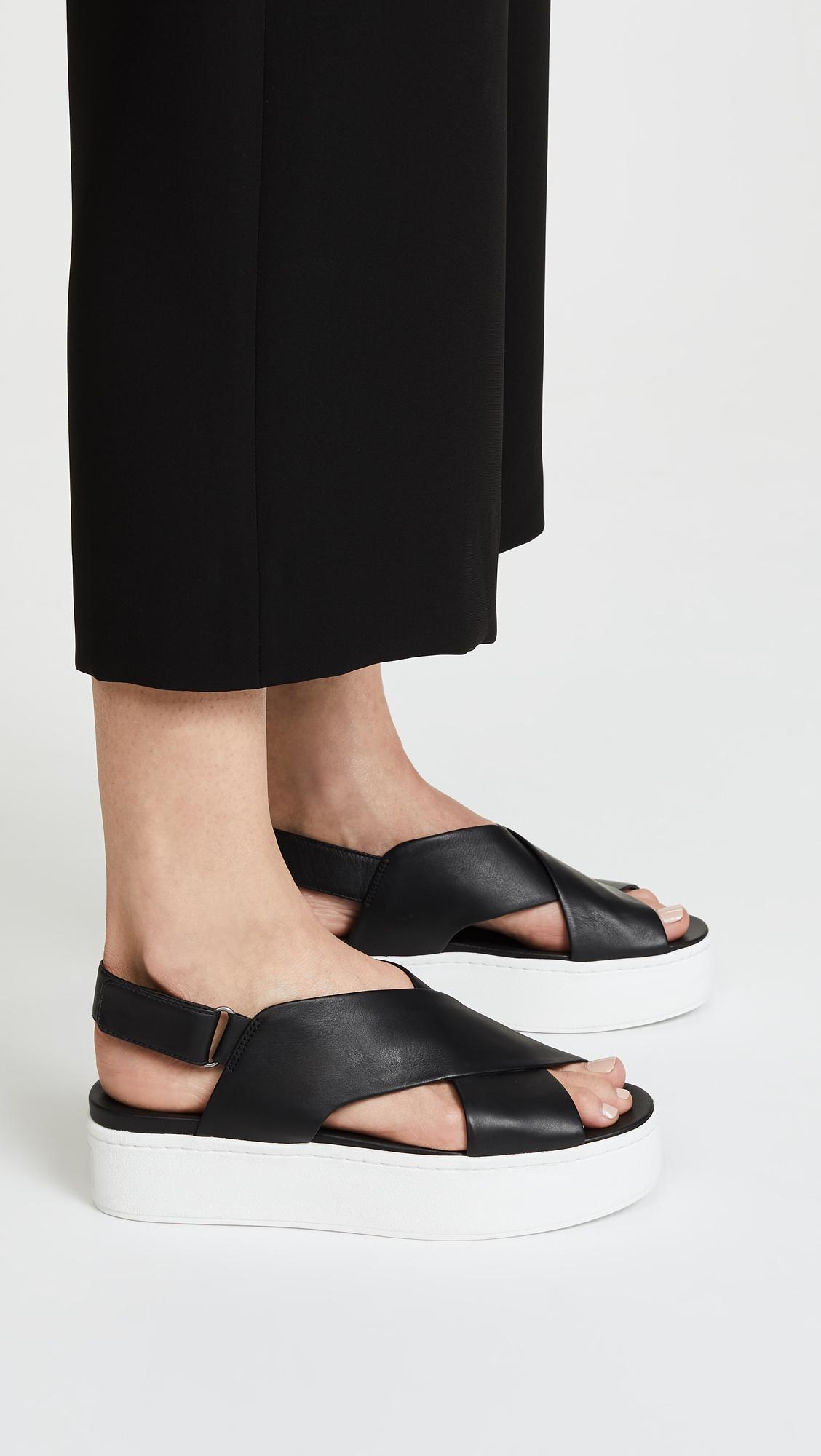 Vince Weslan Leather Flatform Sandals