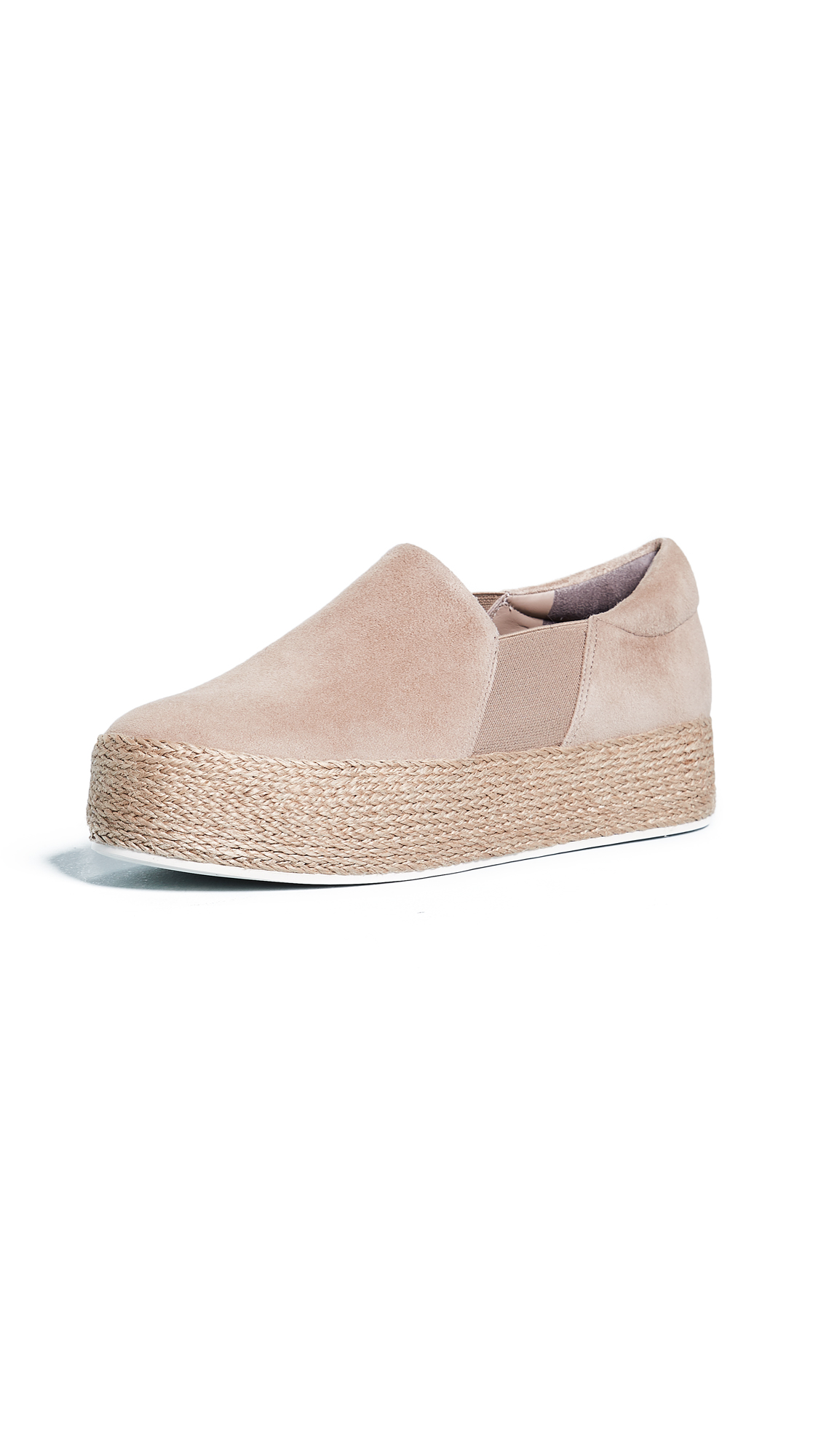 Vince Wilden Platform Slip On Sneakers In Straw