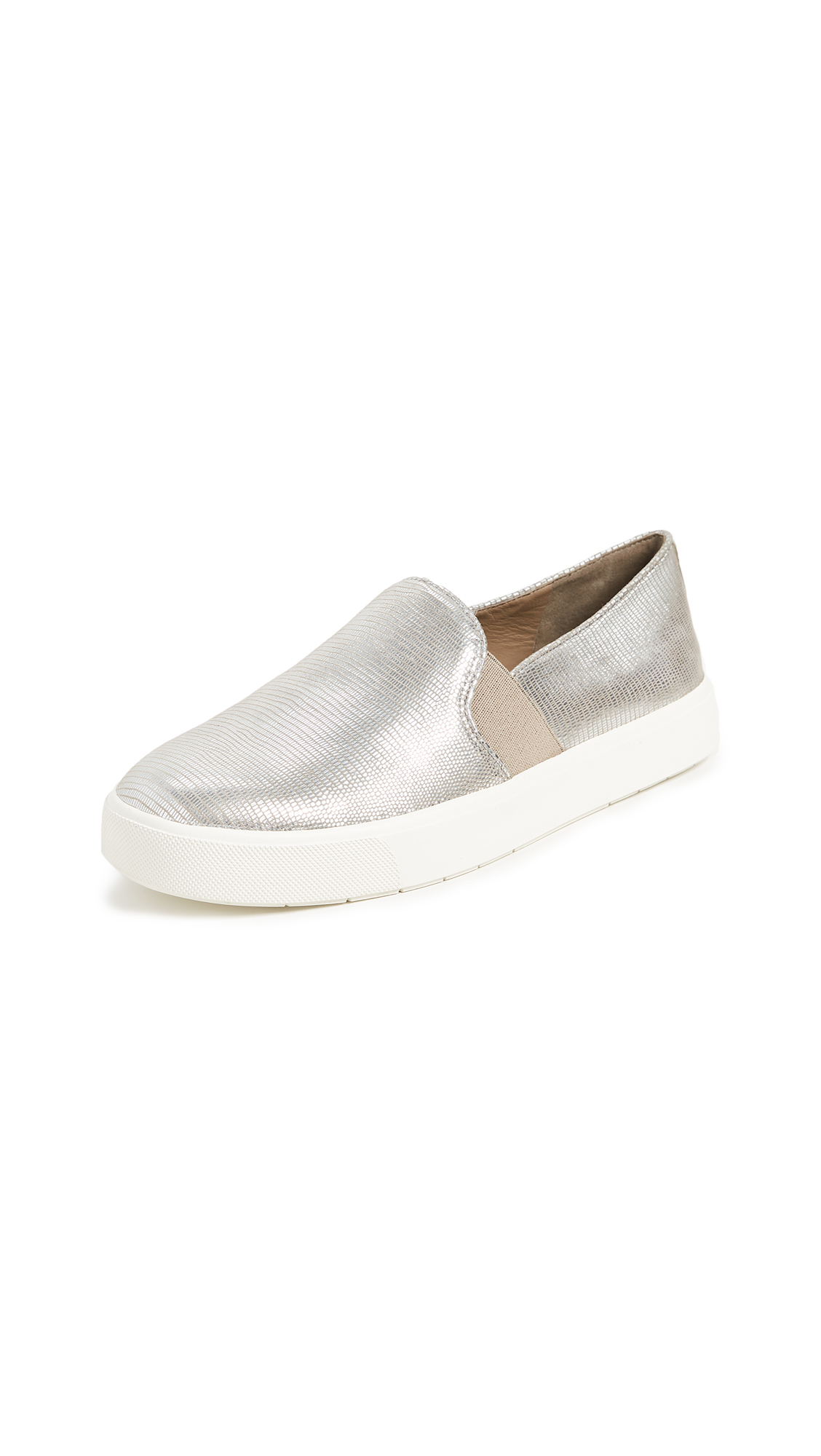 Vince Blair Slip On Sneakers In Silver Woodsmoke