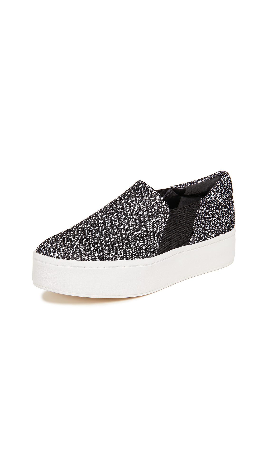Vince Warren Slip On Sneakers - Black/White