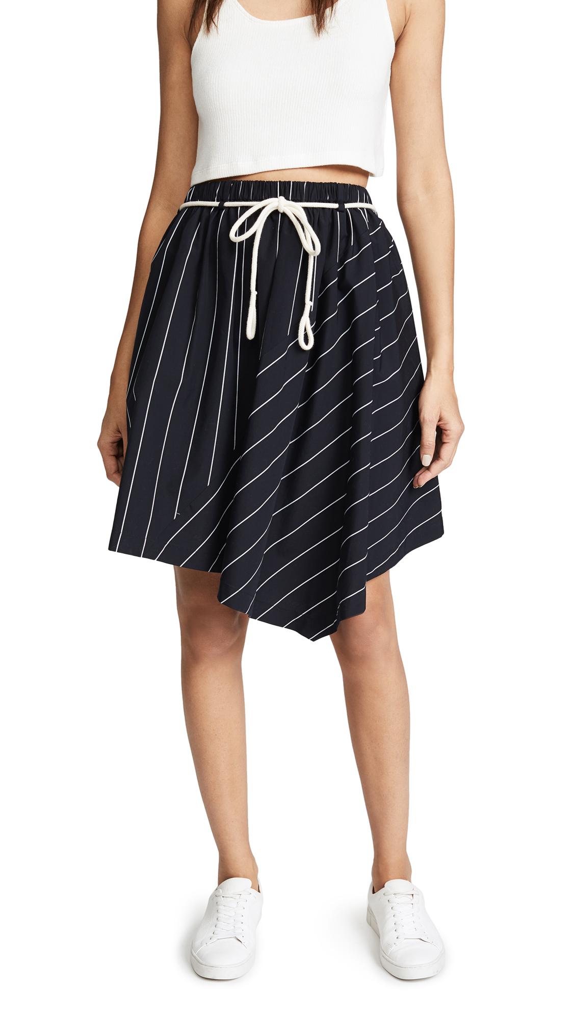 Vince Asymmetric Skirt In Coastal/Optic White