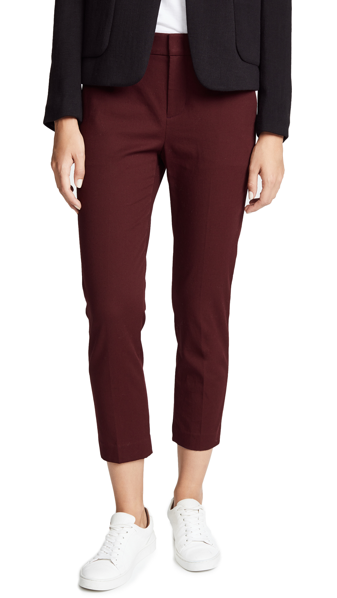 Coin Pocket Chino Pants, Black Cherry
