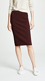 Vince Ribbed Skirt