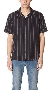 Vince Vintage Stripe Cabana Shirt