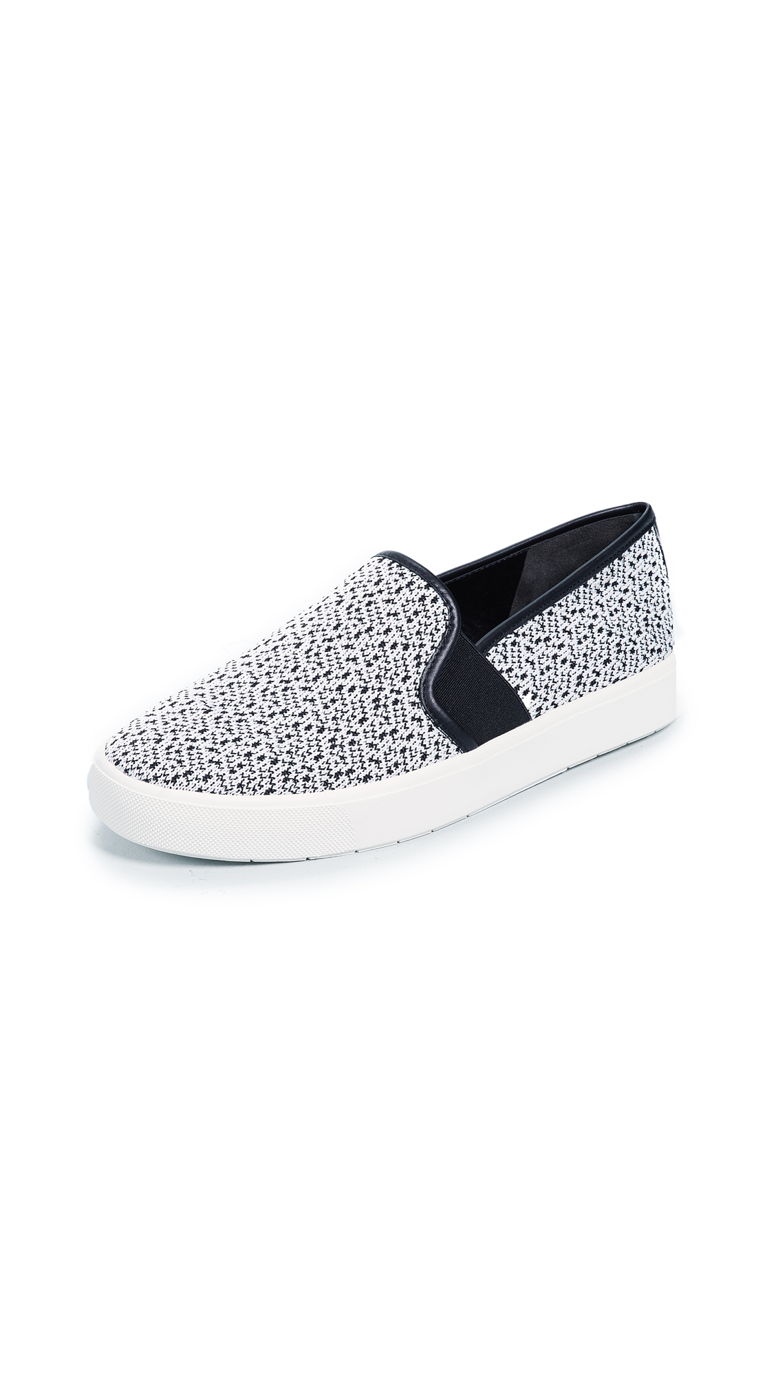 Vince Blair Slip On Sneakers - White/Black