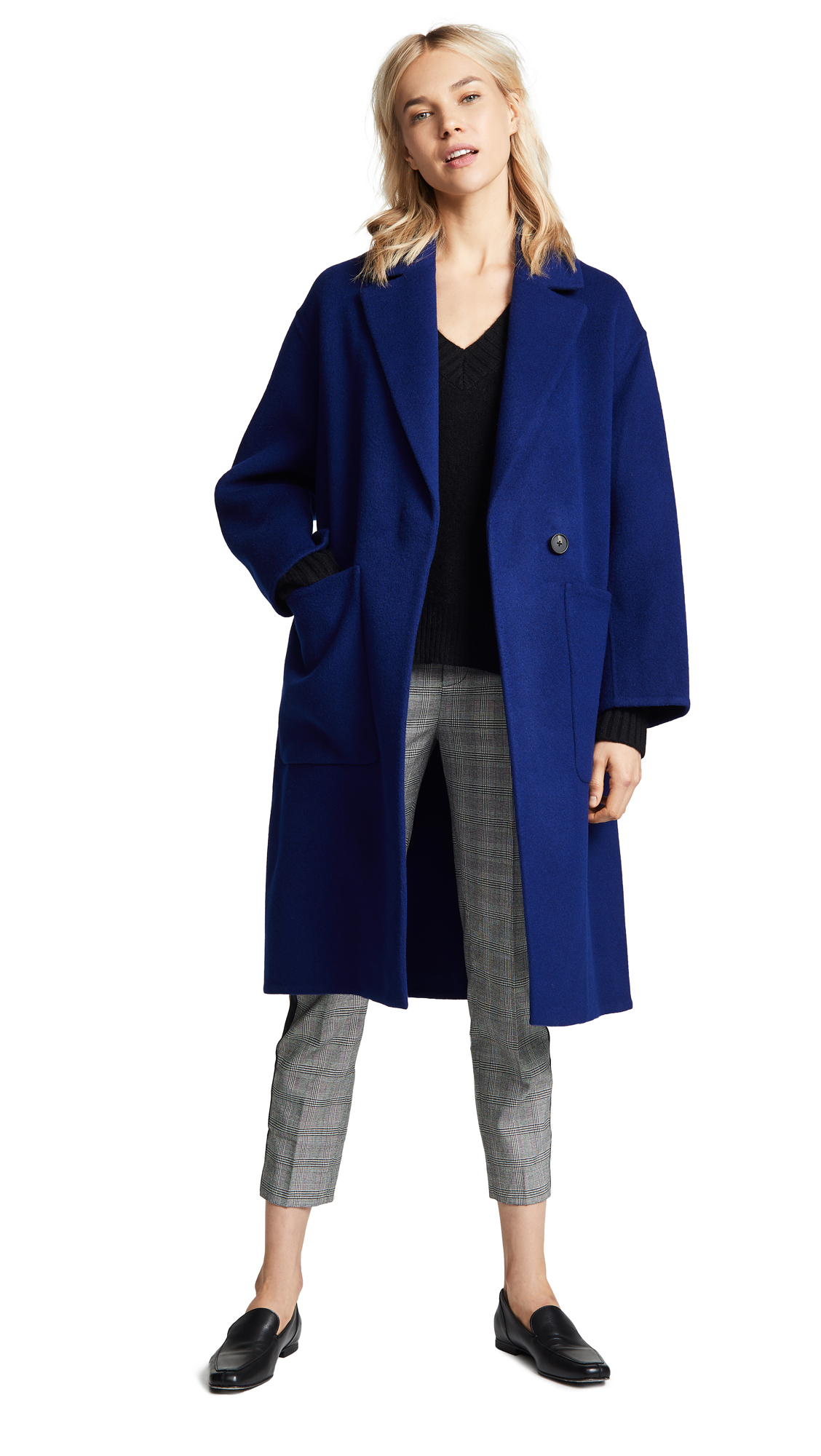 Vince Patch Pocket Coat In Ink