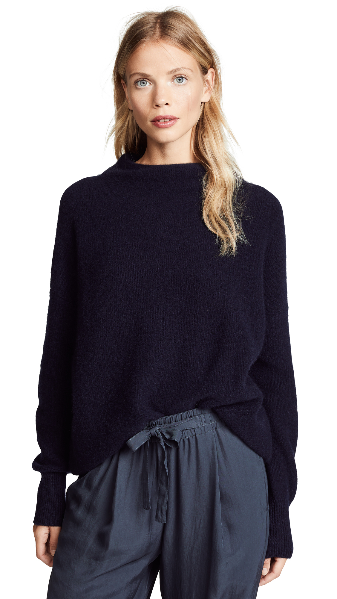 Vince Boiled Cashmere Pullover Sweater In Coastal