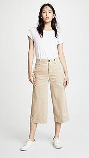 Vince Вельветовые широкие укороченные брюки