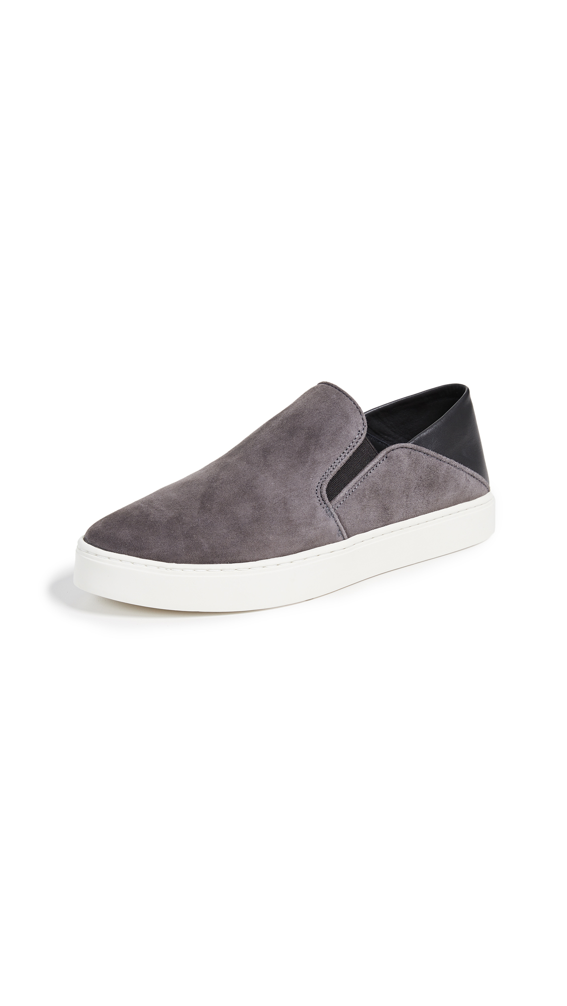 Vince Garvey Slip On Sneakers - Pewter