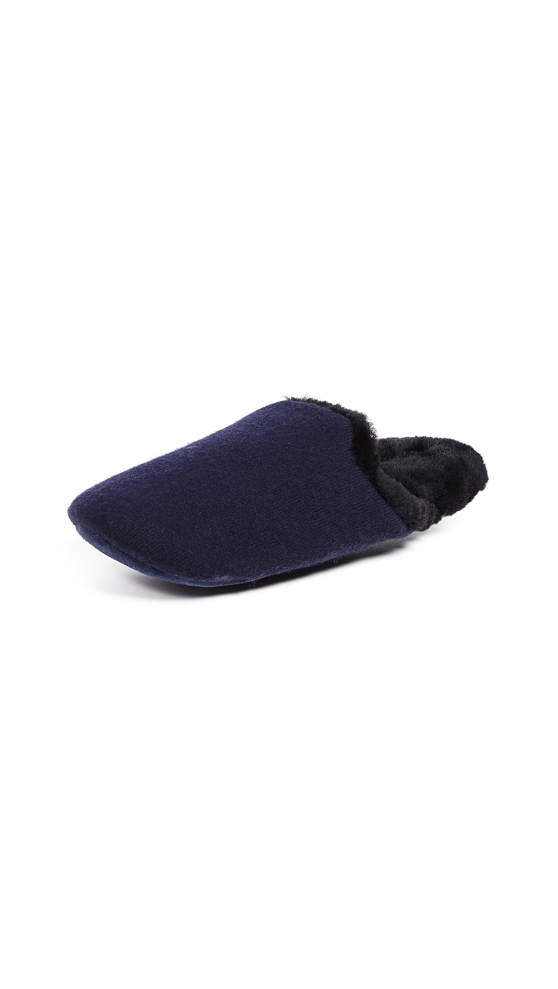 Vince Cadie Cashmere Slippers - Navy/Black