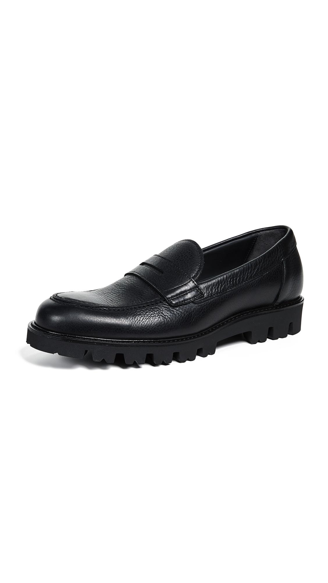 Men'S Comrade Leather Lug-Sole Loafer in Black