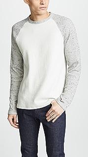 Vince Raglan Long Sleeve Crew Neck Shirt
