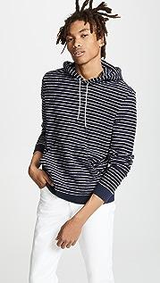 Vince Textured Stripe Hoodie