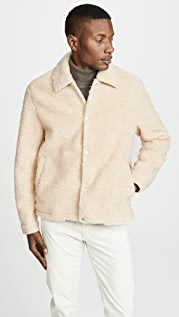 Vince Sherpa Coaches Jacket